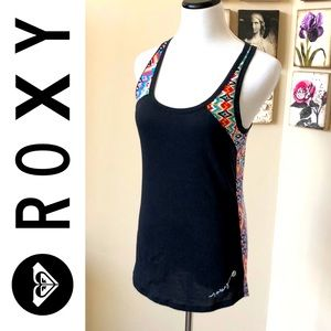 Roxy Jr Mix Master tank black multi aztec print XL